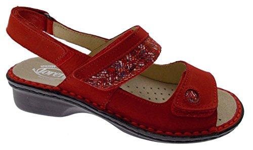 Loren M2716 Extra Large Orthopedic Adjustable red Sandal 37 X1G1EdvH