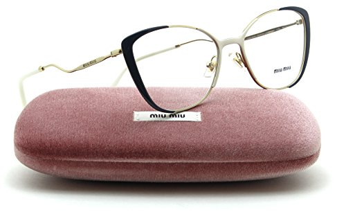 Miu Miu 51QV Butterfly Women Glasses RX - able Gold w/Ivory, VYE-1O1 - Frame Miu Miu Glasses