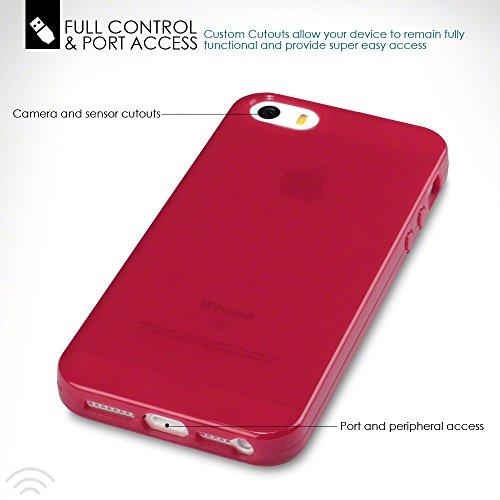 iPhone SE Funda Protectiva de Silicona Gel TPU estrecha - Rojo