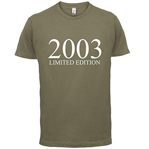 2003 Limierte Auflage / Limited Edition - 14. Geburtstag - Herren T-Shirt - Khaki - XXL