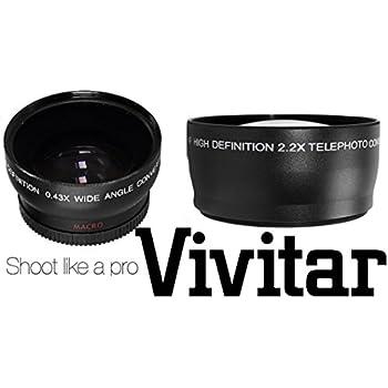 Pro Hi Def 2.2x Telephoto Lens For Canon EOS Rebel T7i SL2 77D