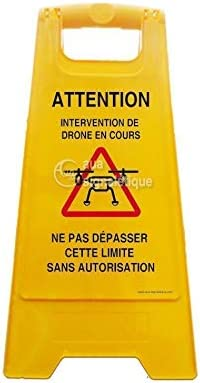 Balise Chevalet de signalisation (Attention Intervention Drone)