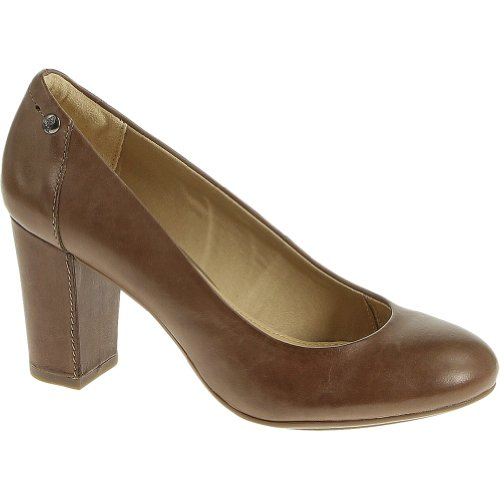 Hush Puppies Women's Sisany Pump,Taupe Leather,US 6 M
