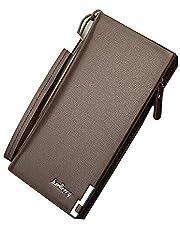 محفظة حقيبة يد للرجال, حديثة الموضة متعددة الوظائف, جلد QB49B - بني