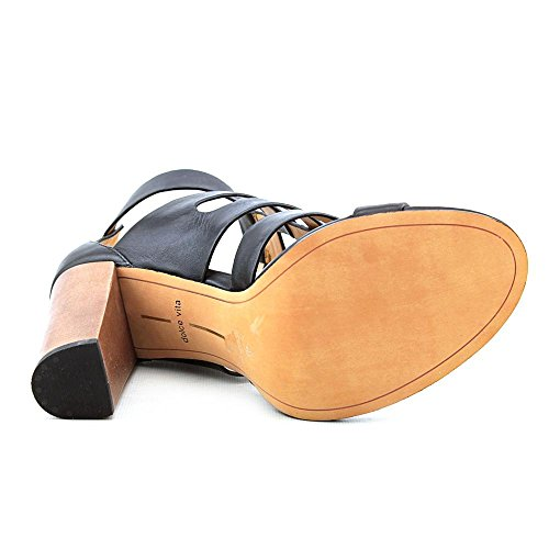 Dolce Vita Women's Niro Dress Sandal,Black Leather,9 M US