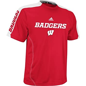 dc2c47acd368a Wisconsin Badgers adidas Swagger Sideline Pefromance T-Shirt (Large ...