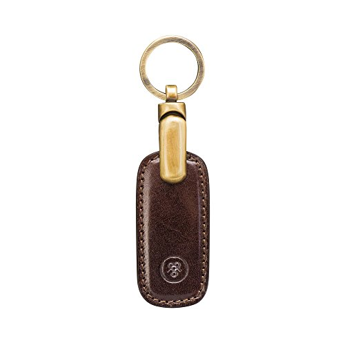 Maxwell Scott Luxury Brown Leather Keyring (Ponte) by Maxwell Scott Bags