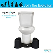 Squat N Go Space Saver Toilet Stool   The Only Detachable and Compact Bathroom Stool   Free Travel Bag   Free Bathroom Guide   7