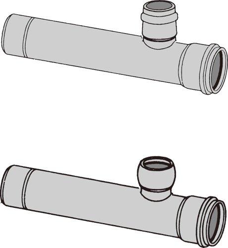 下水道関連製品>下水道継手>枝付管 ゴム輪受口枝付管 TR-R TR250R-150RX1000L Mコード:75418 前澤化成工業 B079BPQ48D