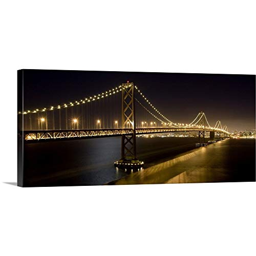 GREATBIGCANVAS Gallery-Wrapped Canvas Entitled The Oakland Bay Bridge and San Francisco Skyline by Scott Stulberg 48
