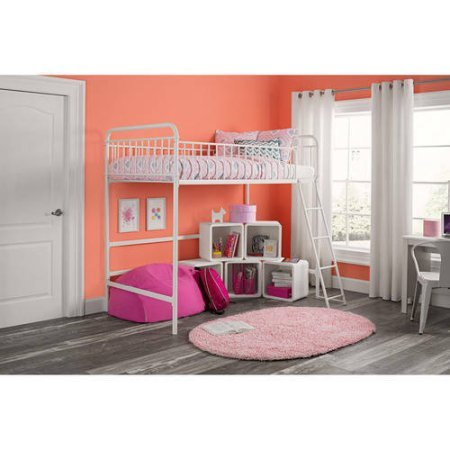 Better Homes and Gardens Kelsey Twin Metal Loft Bed, Multiple Colors (Tri Bunk)