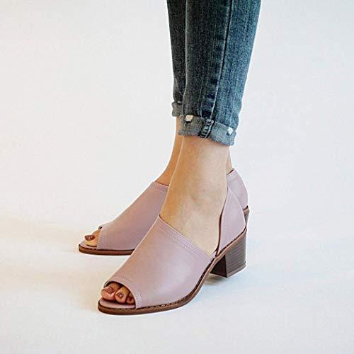 Scarpe Scarpe Romani Romani Romani Chunky UK Toe per Misura ammortizzato Heels 7 Gladiatore Dimensione Basso Abbellito Slingback Viola Viola Donna Colore per 2 Elegante Sandali 10 Peep ZHRUI fZq5w4n