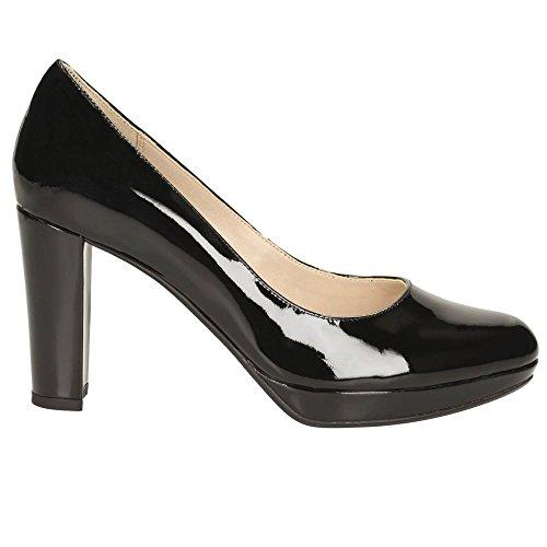 Clarks Kendra Sienna Womens Wide Formal Shoes 7.5 Black Patent NCLjw