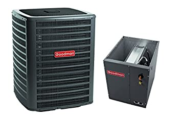 Goodman 4 Ton 14.5 Seer Condenser with Upflow/Downflow Coil GSXC160481 CAPF4860D6 TX5N4 (3/8 x 3/4 x 50' line Set)