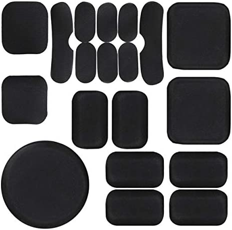 19pcs//Replacement Bike Motorcycle Padding Kit Tactical Helmet EVA Foam Insert Bicycle Accessories Soft and Durable Helmet Foam Pads for MICH CS FMA ACH USMC PASGT Airsoft Helmet Pads