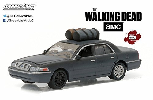 Greenlight New 1:64 Hollywood Series 14 Collection - THE WALKING DEAD - BLACK GOVERNOR'S 2001 FORD CROWN VICTORIA Diecast Model -