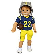 My Brittany's Michigan Football Outfit for American Girl Boy Dolls- 18 Inch Boy Doll Clothes