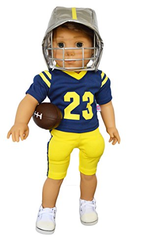 Brittany's Michigan Football Outfit Compatible with American Girl