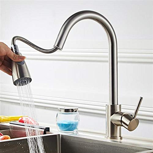 Lovinland Kitchen Faucet All Copper Kitchen Water Pull Faucet