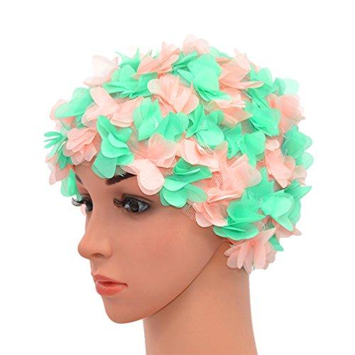 Medifier Badekappe mit Blumenmuster, Retro-Stil, für Damen