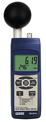 Series Meters - REED Instruments SD-2010 SD Series WBGT Heat Stress Meter, Datalogger