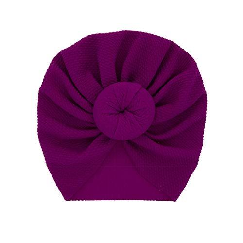 Hukehzu Baby Turban Headband Baby Headband Newborn Baby Boy Girl Solid Knotted Hat Beanie Headwear Cap Hat