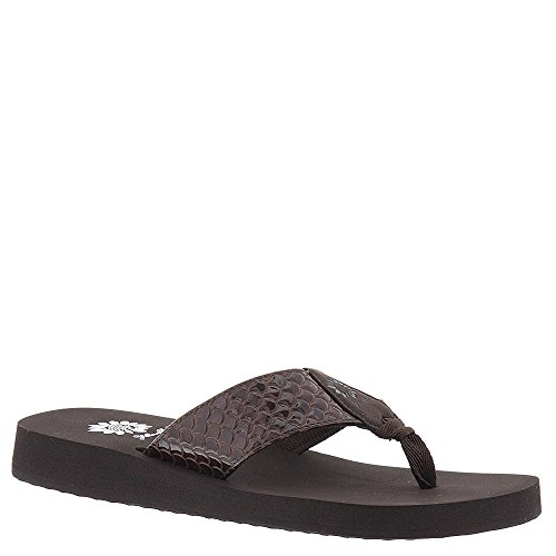 Yellow Box Sammi Women's Sandal 7.5 B(M) US Brown (Yellow Box Flip Flops Brown compare prices)