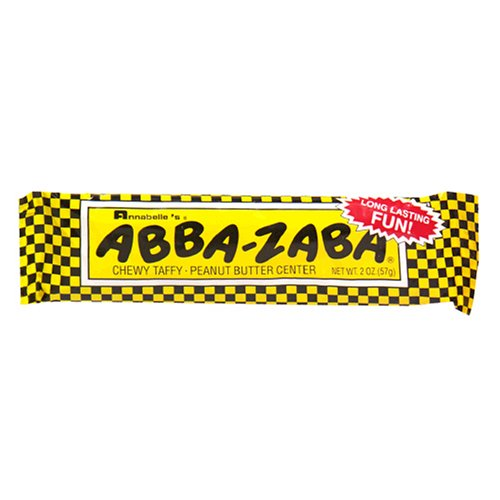 (Annabelle's Abba-Zaba Chewy Taffy Peanut Butter Center, 2-Ounce Bars (Pack of 24))