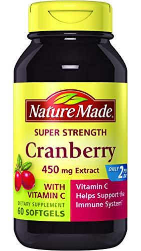 Nature Made Super Strength Cranberry + Vitamin C Softgels 60 Ct