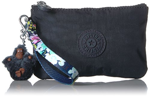 Kipling Candy Solid Mini Wristlet with a Floral Strap, True Blue (True Case Floral)