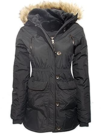 b4985716cd73 GIRLS BLACK COAT JACKET Quilted HOODED SCHOOL CLOTHING AGE 5-6