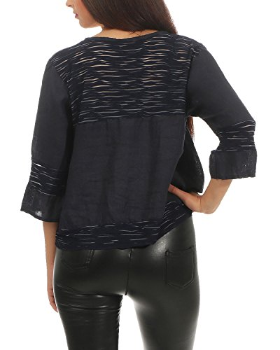 Design ZARMEXX Blazer Summer en dcontract pour Cardigan Marine Femmes lger Lin Cardigan fq8vUf7