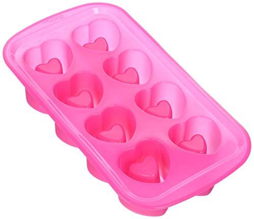 Wilton 2105-3120 8-Cavity Heart-Shaped Silicone Shot Glass Mold