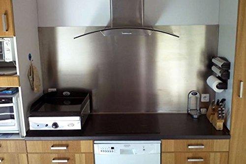 Crédence En Inox Magnétique 90 X 60 Cm - Epais 1 Mm - Plaque Inox