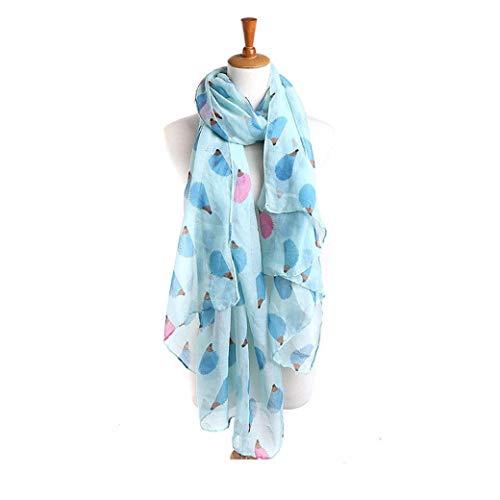 (Women Ladies Hedgehog Long Scarf Warm Wrap Shawl (Blue))
