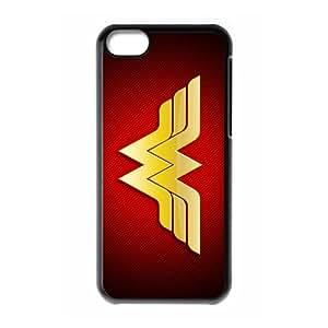 superheroine batman Wonder Woman Personalized iPhone 5C Hard Plastic Shell Case Cover White&Black(HD image)