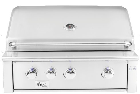 Summerset Alturi 36-inch 3-burner Built-in Natural Or Propane Gas Grill W/ Red Brass Burners & Rotisserie -ALT36-RB-NG Or ALT36-RB-LP -W/ FREE Grill Cover From Premier Grilling (Natural Gas)