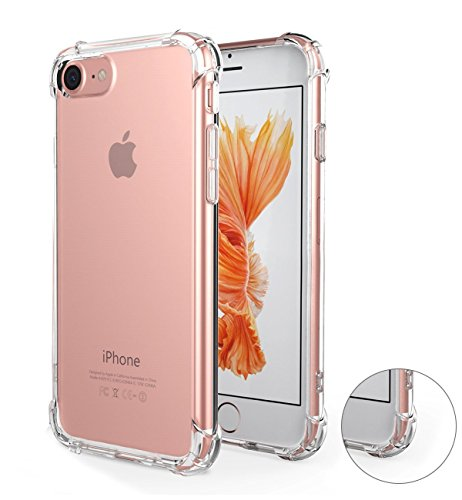 iPhone 7/8 Case,iPhone 7/8 Crystal Clear Case,MT Mall [Shock Absorption] Reinforced Corners on Soft TPU Bumper Slim Protective - Mall Mt