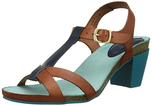 Kickers Women's Pietra Open Toe Sandals Brown (Camel Bleu 116) Nb6dBdT