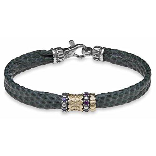 Platadepalo ADB2F-Bracelet en argent sterling bronze Cuir