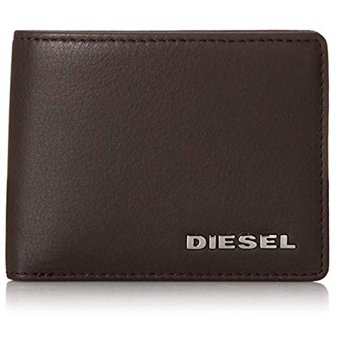 Dark S Wallet Leather Diesel Gift Box NEELA Brown with Bifold qAwqIX