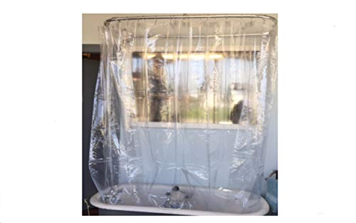 Shower Curtain for a Clawfoot Tub/Clear Without Magnets 180