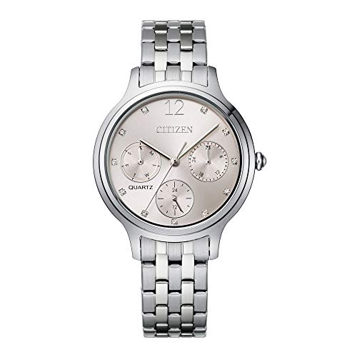 Citizen Women's Quartz Stainless Steel Strap, Silver, 14 Casual Watch (Model: ED8180-52X)