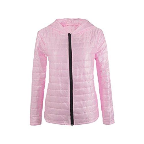 Vovotrade Chaqueta de manga larga con capucha para mujer Rosa