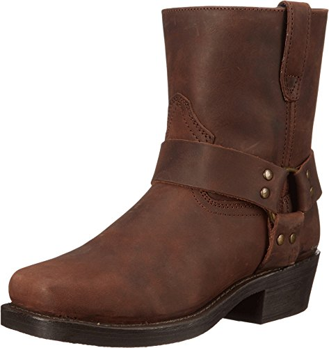Dingo Mens Gaucho Nutty Mule Leather Rev-Up 7in Harness Cowboy Boots 16 - Mule Cowboy