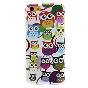 Cartoon Style colorful Lovely Big Round Eyes Pattern Hard Case for iPhone 5C