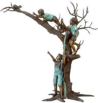 Amazoncom Three Boys Chasing Squirrel on Tree Solid American