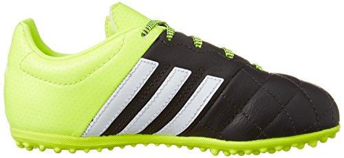 adidas Ace 15.3 TF J Leather - Botas para niño Negro / Lima / Blanco