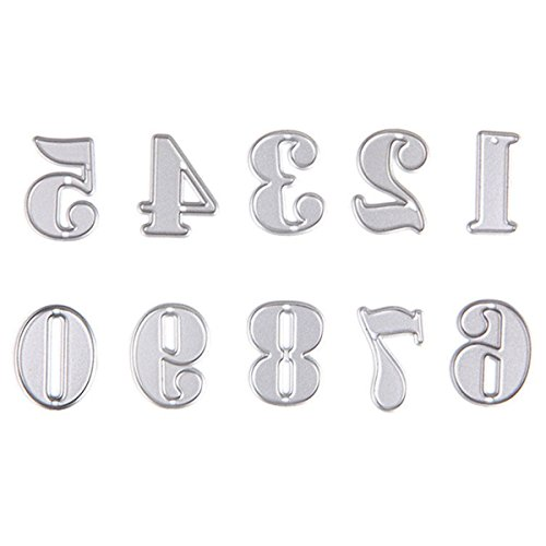 Dies Cut Scrapbooking Cutting Die for Card Making Numbers Letters Words Alphabet Metal Stencils for DIY Photo Album Decorative Paper Craft Gift