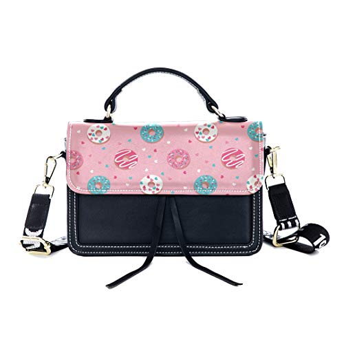 ag Chocolate Donut Dessert Delicious Print Shoulder Bag Top Handle Tote Flap Over Satchel Purses Crossbody Bags Messenger Bags For Women Ladies ()